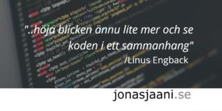 Utvecklarens perfekta kod är enkel, pragmatisk och fylld av tillfredsställelse.