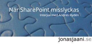 När SharePoint misslyckas. Hur löser du problemet?