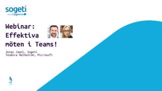 Effektiva möte. Webinar med Microsoft